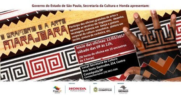 Oficinas de arte e cultura indígena tem inscrições abertas em Cosmópolis