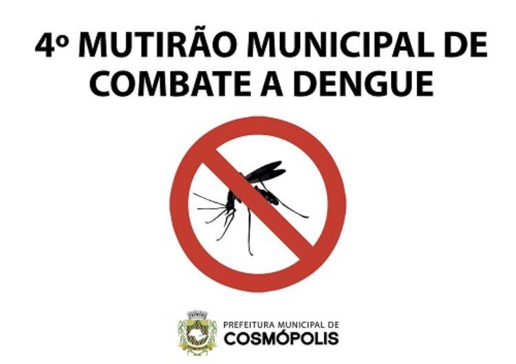 Quarto Mutirão Municipal de Combate à Dengue será realizado no Centro