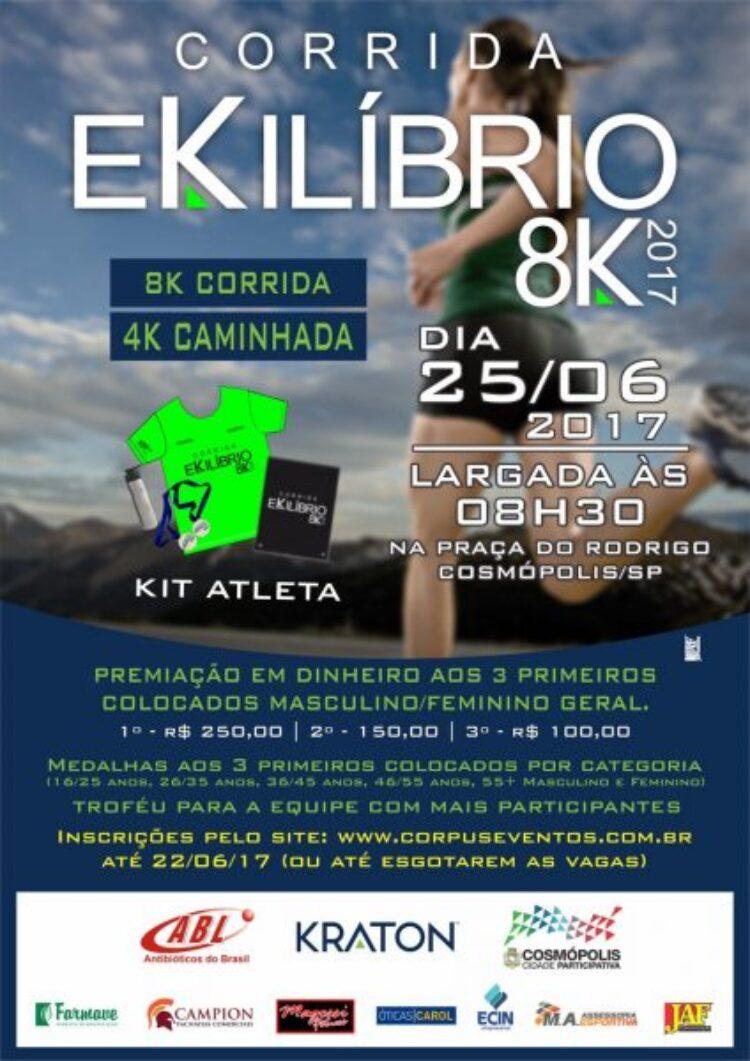 Inscrições para a 7ª edição da Corrida Ekilibrio estão abertas