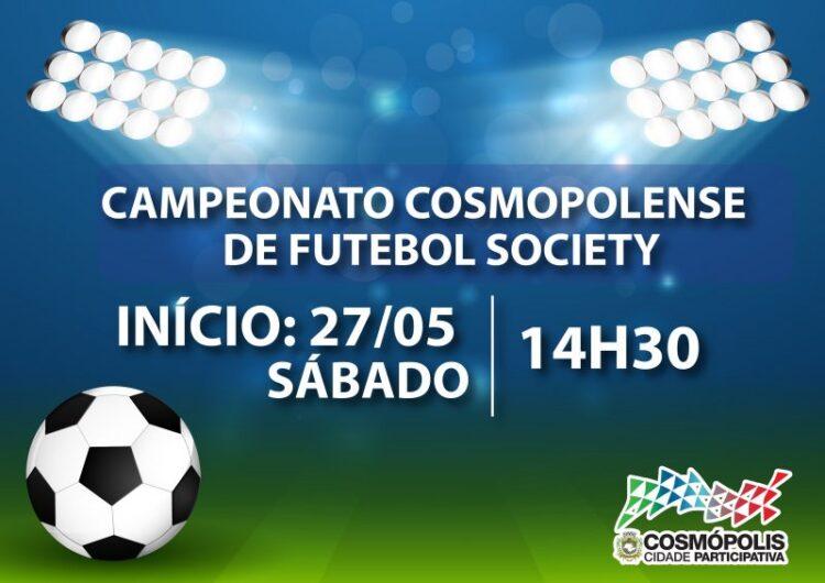 Campeonato Cosmopolense de Futebol Society começa neste final de semana