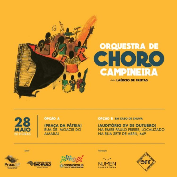 Orquestra de Choro Campineira faz apresentação gratuita em Cosmópolis