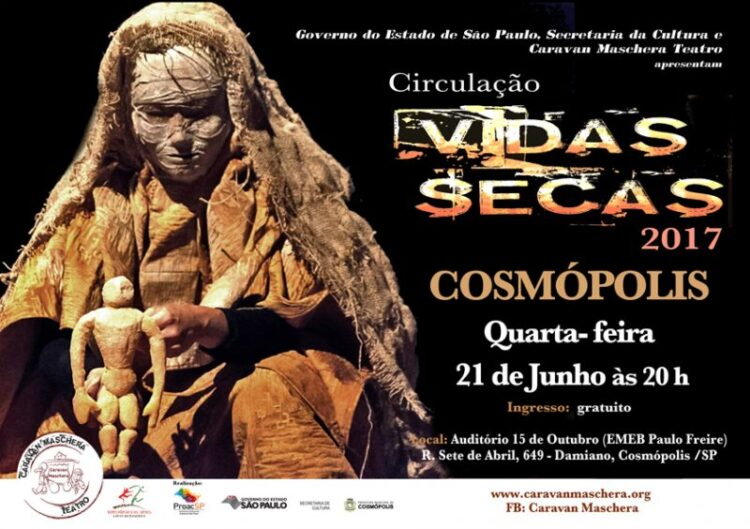 Cia Caravan Maschera apresenta versão de Vidas Secas em Cosmópolis