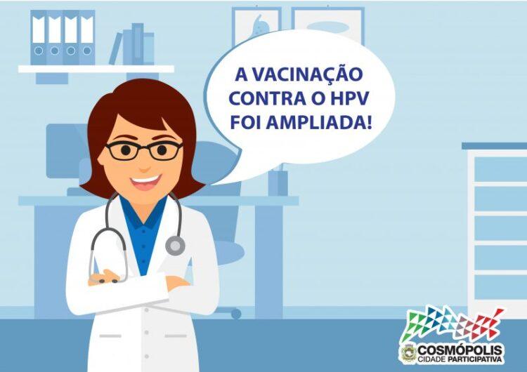 Vacinação contra HPV é ampliada