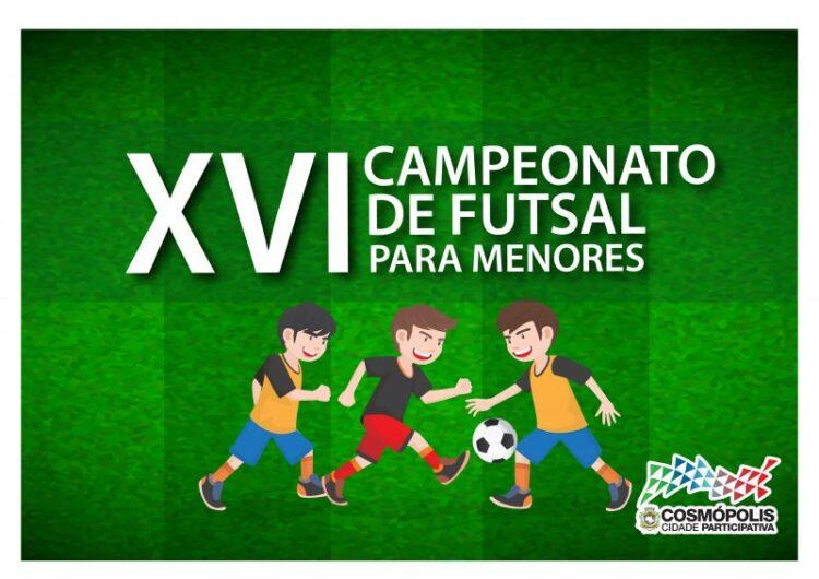 Estão abertas as inscrições para a XI Copa SEC de Futsal para Menores