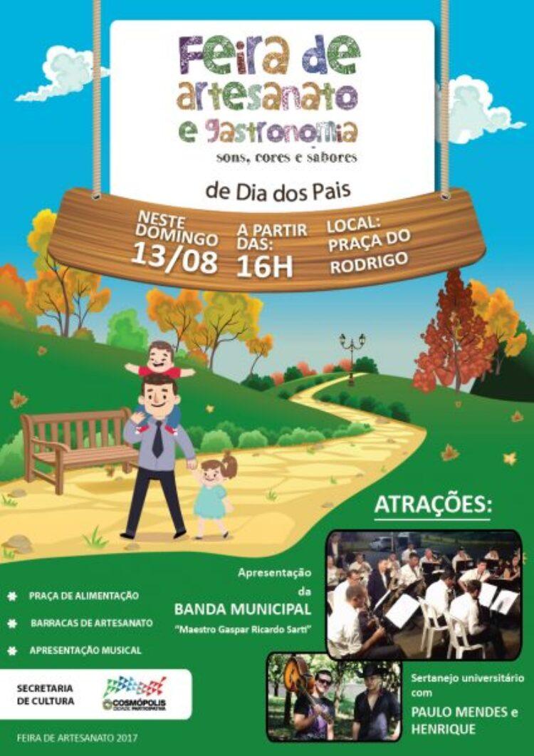 Feirinha de Artesanato de agosto ocorre no próximo domingo (13)