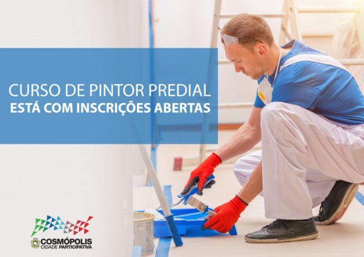Em parceria com o Governo Estadual, Prefeitura oferece vagas para curso de Pintor Predial