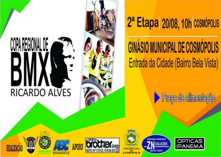 """Cosmópolis sedia segunda etapa da """"I Copa Regional Ricardo Alves de BMX"""""""