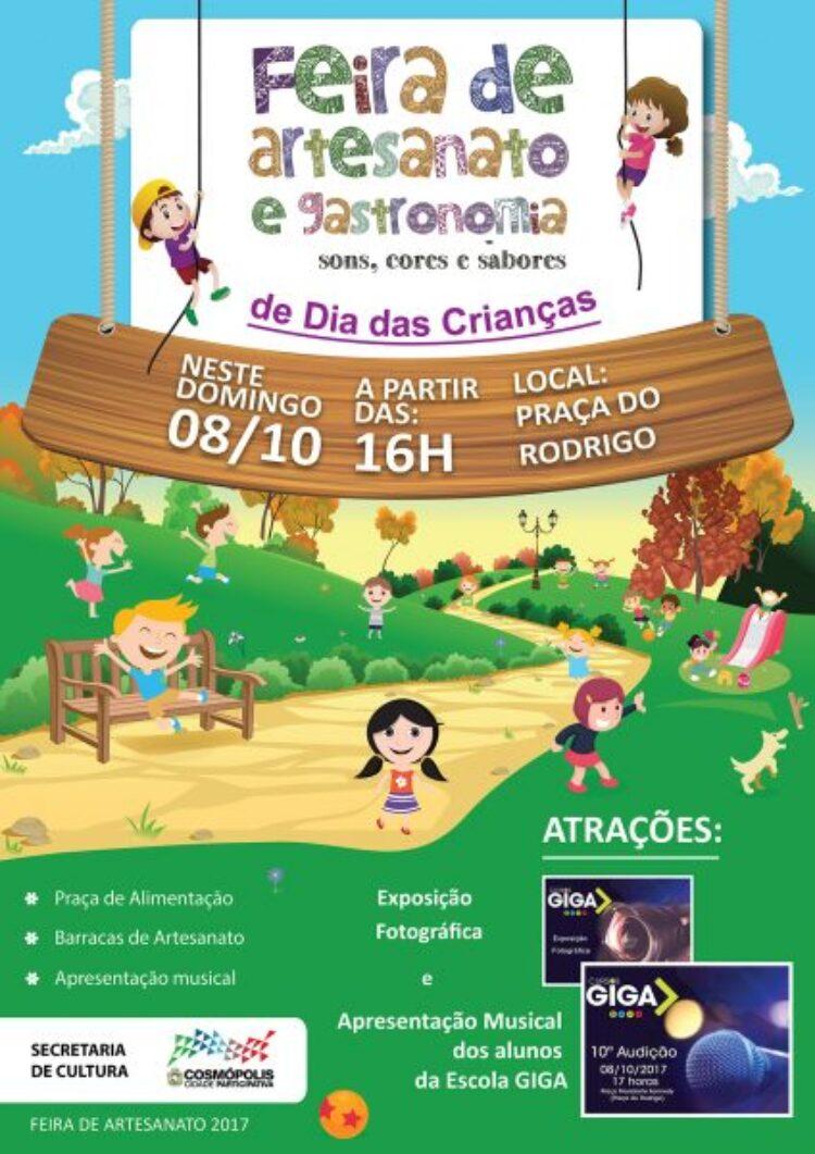 Feirinha de Artesanato de outubro tem o dia das crianças como tema