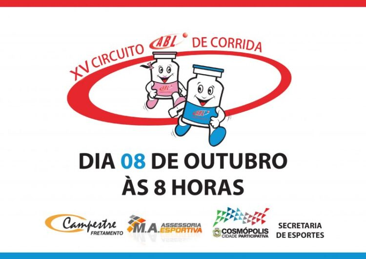 XV Circuito de ABL de Corrida será realizado neste domingo (8)