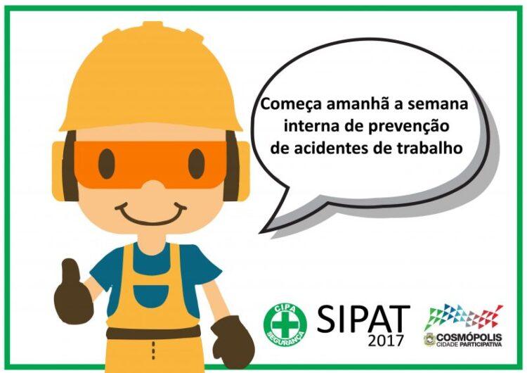 """Prefeitura Municipal de Cosmópolis realiza a """"Semana Interna de Prevenção de Acidentes no Trabalho"""""""