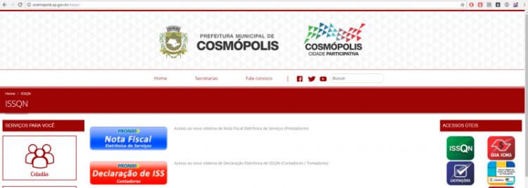 Novos sistemas do ISSQN já estão disponíveis no site da Prefeitura