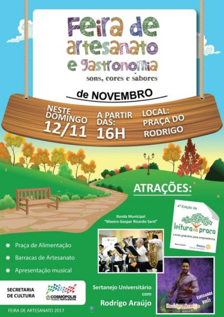 Feirinha de Artesanato de novembro ocorre neste domingo (12)