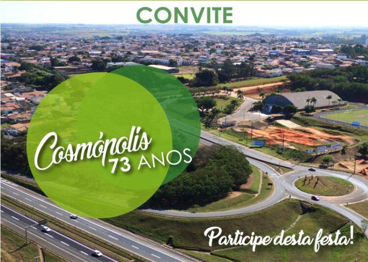 Cosmópolis tem programação especial de aniversário em novembro