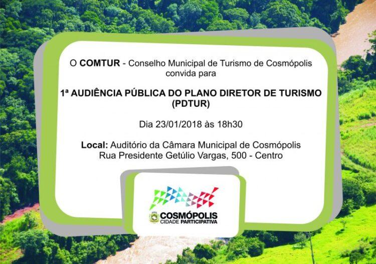 """Prefeitura e COMTUR realizam primeira audiência pública do """"Plano Diretor de Turismo"""" do município"""