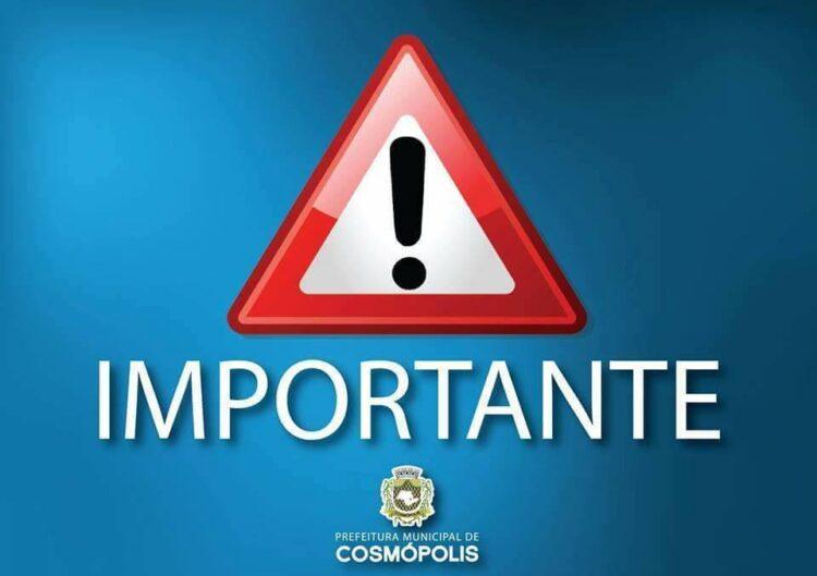 Prefeitura Municipal de Cosmópolis realiza vacinação contra a febre amarela neste sábado (17)