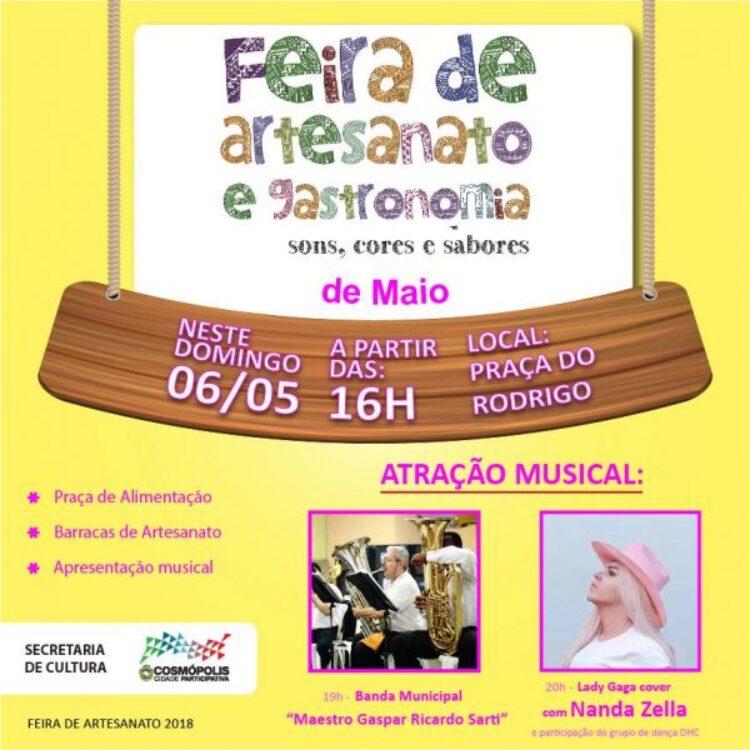 Feirinha de Artesanato de maio será realizada no próximo domingo (6)