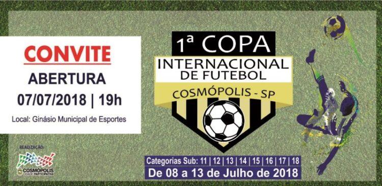 Cosmópolis sedia a 1ª Copa Internacional de Futebol