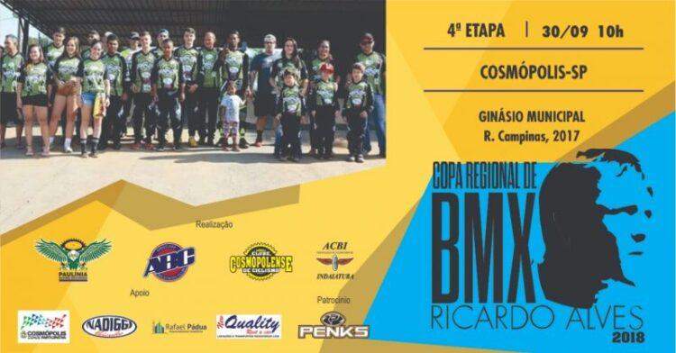 Cosmópolis recebe 4ª etapa da Copa Regional de BMX Ricardo Alves
