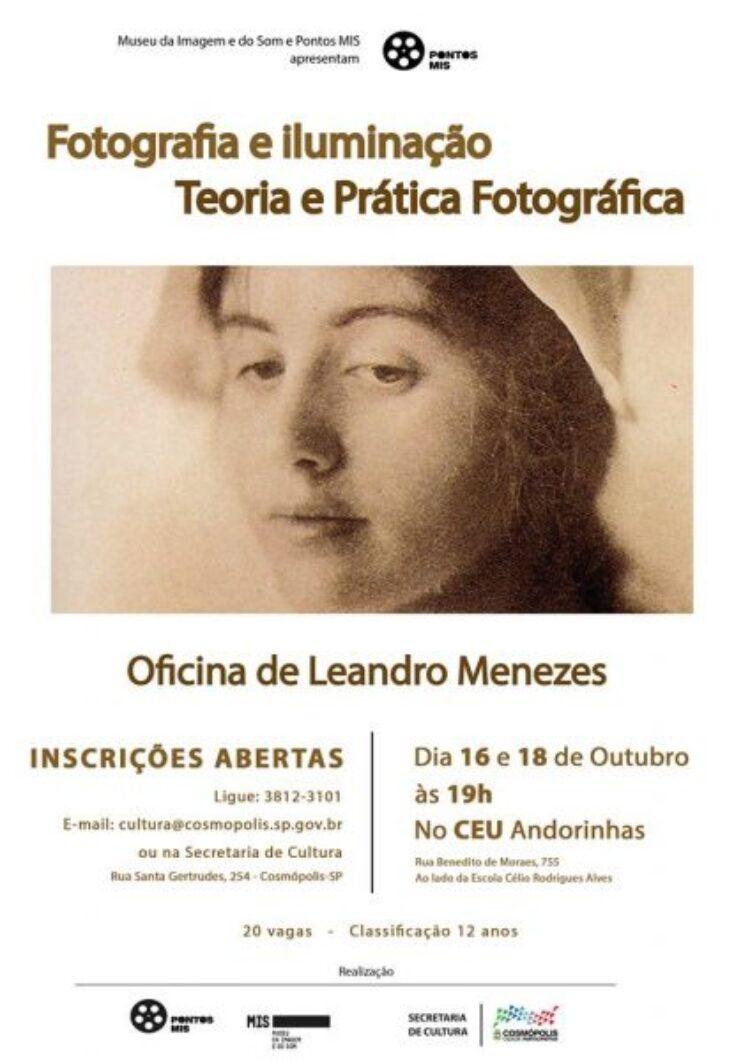 """Oficina gratuita do Ponto Mis traz como tema """"Fotografia e Iluminação – Teoria e Prática Fotográfica"""""""