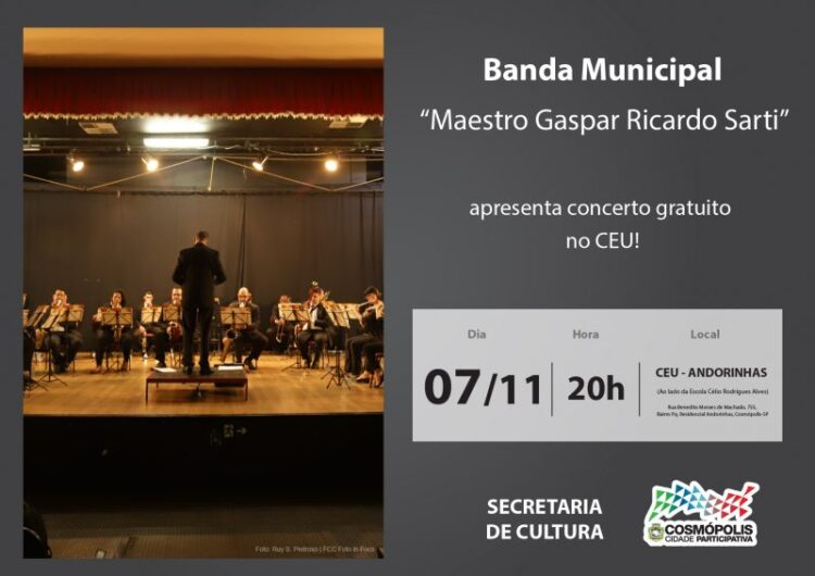 "Centro de Artes e Esportes Unificados ""Professor Ricardo Alves"" recebe concerto gratuito"