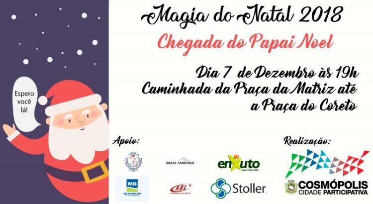 Magia do Natal 2018 começa nesta sexta-feira (7) com a chegada do Papai Noel