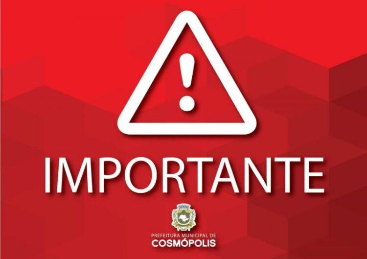 Nota de Esclarecimento do Departamento de Água e Esgoto (DAE) de Cosmópolis