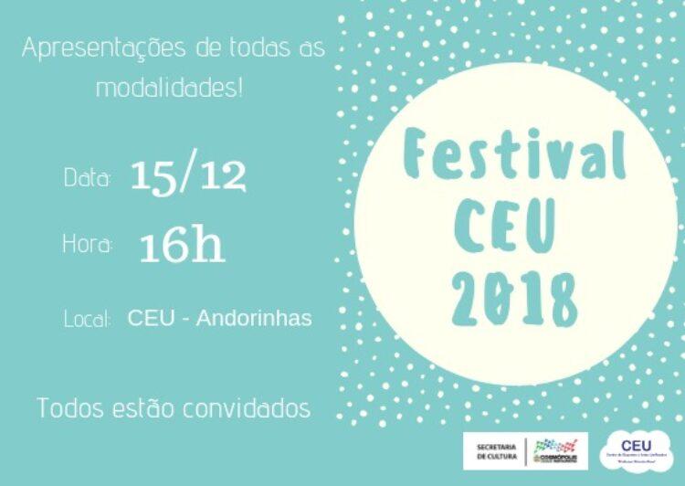 Festival do CEU 2018 traz apresentações esportivas e culturais neste sábado (15)