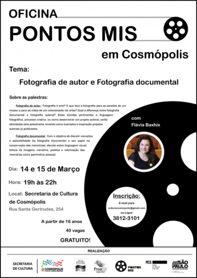 Secretaria de Cultura tem inscrições abertas para palestras sobre fotografia