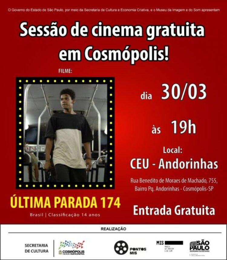 """Prefeitura volta a oferecer sessões de cinema gratuitas no CEU """"Professor Ricardo Alves"""""""