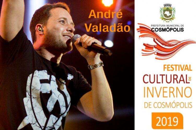 """Prefeitura Municipal de Cosmópolis promove """"Show na Praça"""" com André Valadão"""