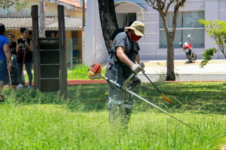 Prefeitura e população se engajaram para fazer o mutirão de limpeza