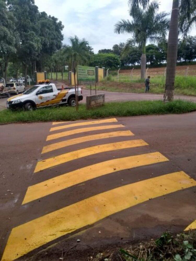 Trânsito realiza sinalização na vicinal que liga Cosmópolis à Paulínia e Americana