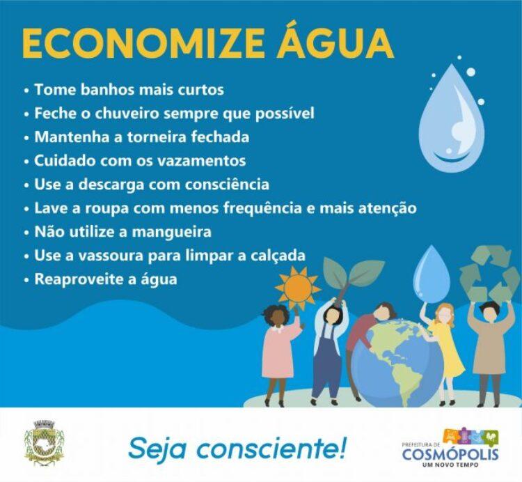 SAE pede uso consciente de água nos bairros