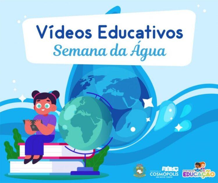Secretaria de Educação realiza atividade com crianças sobre Dia Mundial da Água