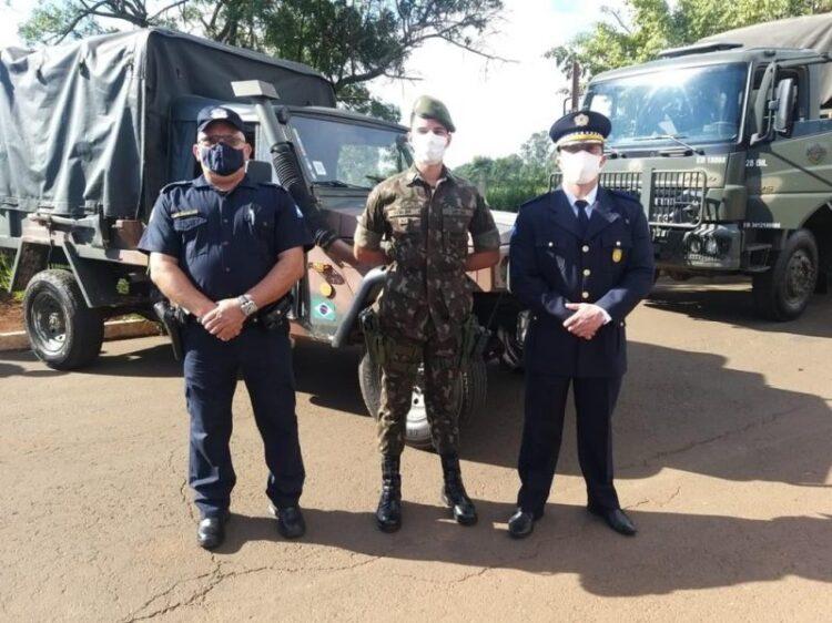 Polícia Municipal acompanha ação do Exército Brasileiro