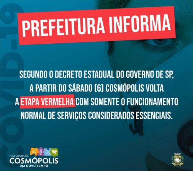 Nova reclassificação de Cosmópolis