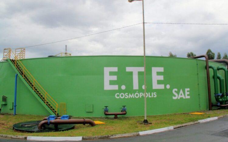 Cosmópolis inicia fase experimental da Estação de Tratamento de Esgoto