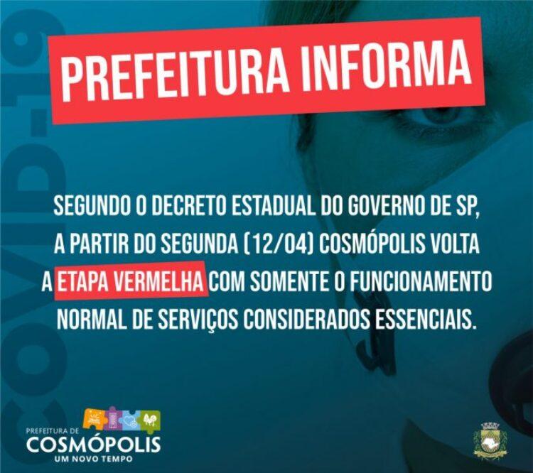 Fase Vermelha em Cosmópolis
