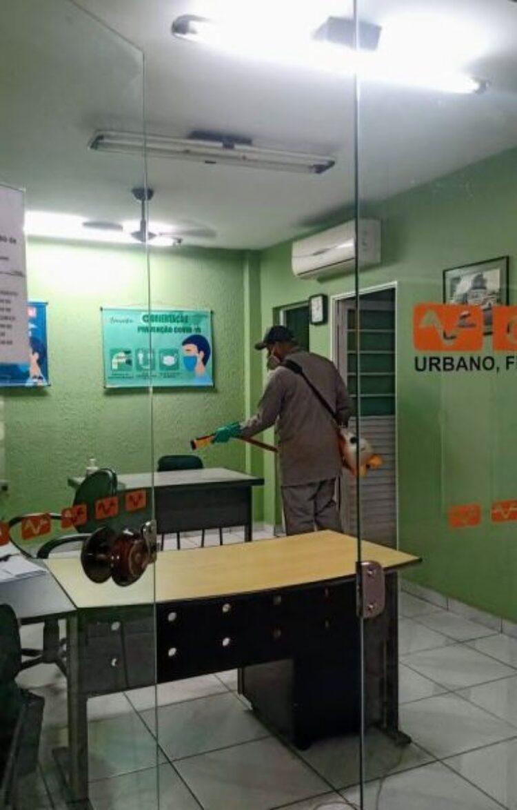 Vigilância Sanitária realiza ação de sanitização na rodoviária