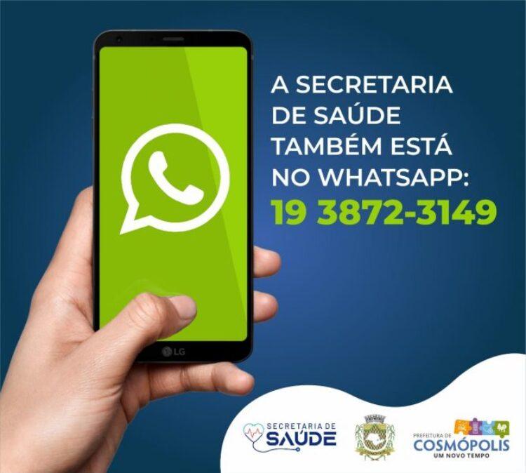 Agora Secretaria de Saúde tem WhatsApp
