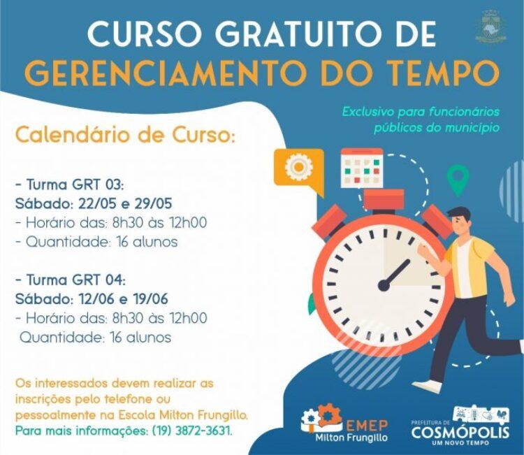 Prefeitura disponibiliza curso de Gerenciamento do Tempo para funcionários públicos