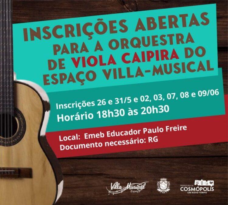 Villa-Musical abre inscrições para Orquestra de Viola Caipira