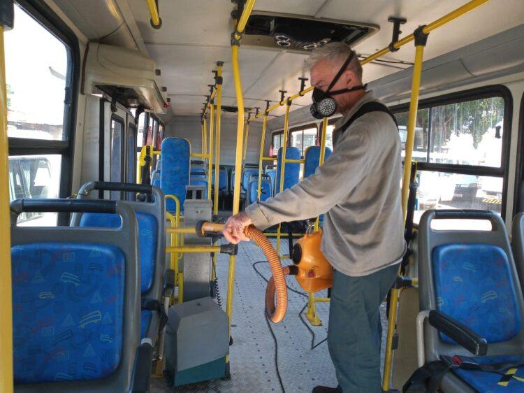 Transporte Escolar realiza nova sanitização na frota de veículos da rede pública