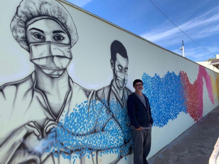 Projeto Arte de Rua é iniciado no muro da Santa Casa da Misericórdia de Cosmópolis