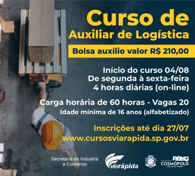 Programa Via Rápida está com vagas abertas para curso gratuito de Auxiliar de Logística