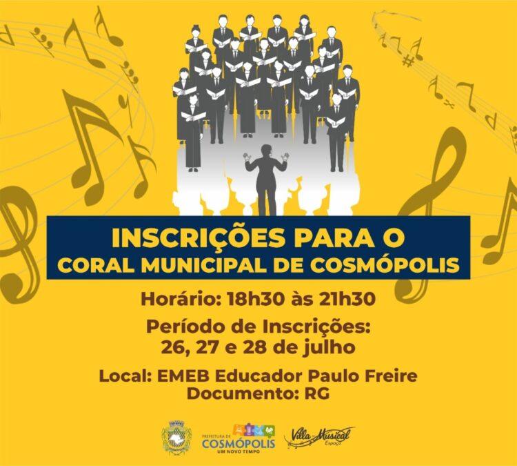 Coral Municipal do Projeto Espaço Villa-Musical abre novas vagas