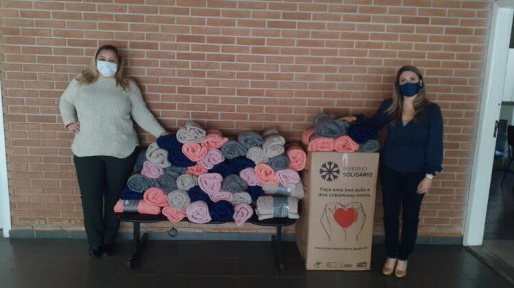 Fundo Social de SP doa 100 cobertores para Cosmópolis