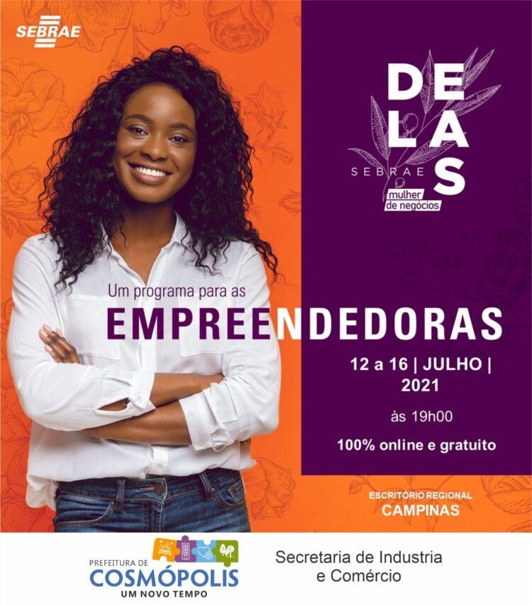 SEBRAE oferece capacitação gratuita para mulheres empreendedoras