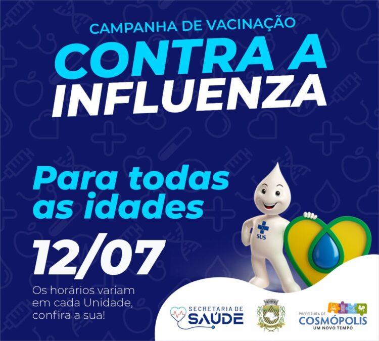 Vacina contra gripe é aberta para toda população