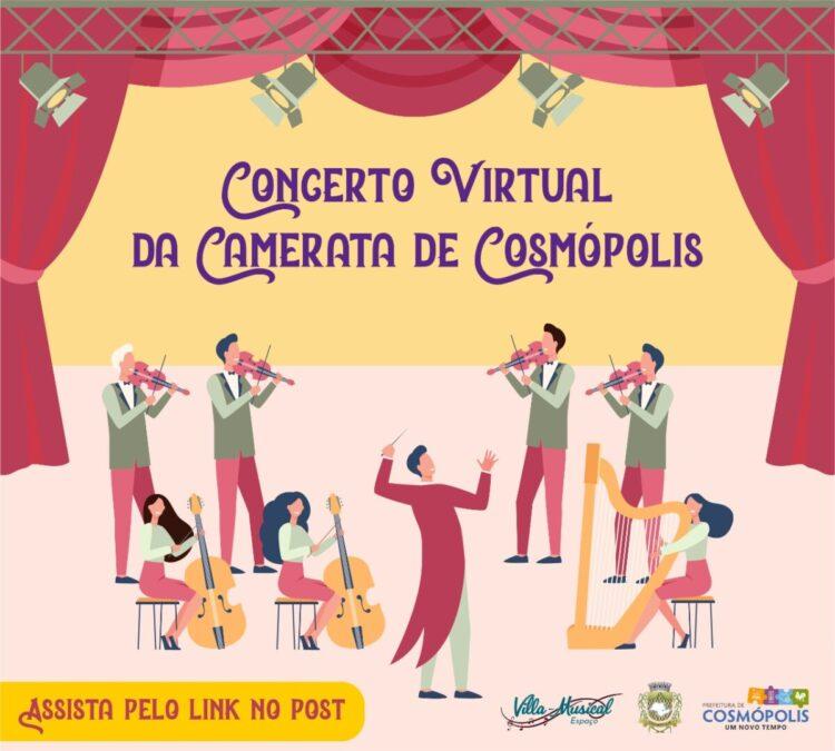 Projeto Espaço Villa-Musical lança apresentação do 1º Concerto Virtual da Camerata de Cosmópolis